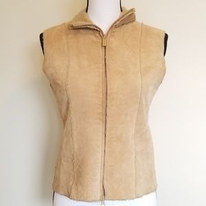 Express Leather Vest with Sherpa size small - 0068
